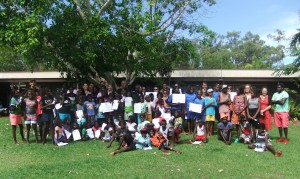 EduGrow participants and guests at the EduGrow Awards Ceremony held at Yirrkala School in November 2013.