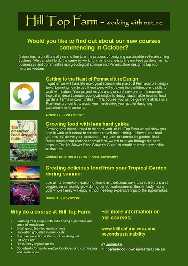 Hill Top Permaculture flyer