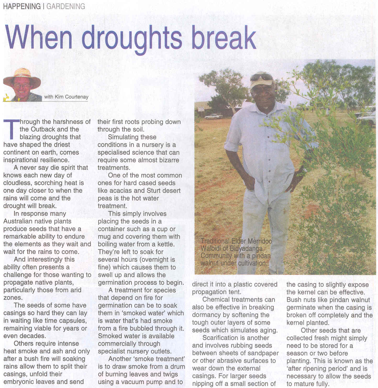 When Droughts Break